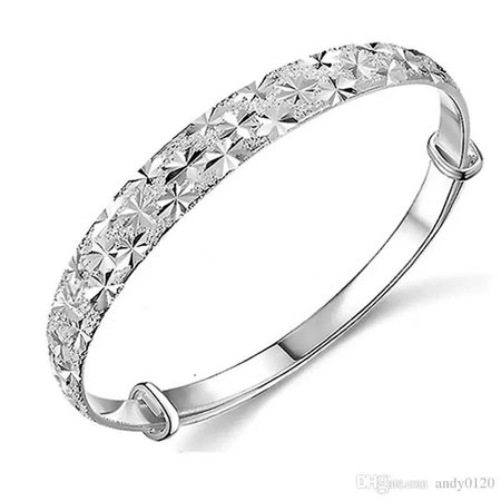 925 Sterling Silver Bangles Chinese Style Women Charm Flower Bracelets Pure Silver Fine Jewelry High Quality Stainless Steel Bangles Diamond Bangles Designs From Andy0120, $2.34| Dhgate.Com