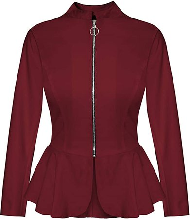 Women's Military Crop Stretch Gold Zip up Blazer Jacket KJK1125X Olive 2X at Amazon Women's Clothing store