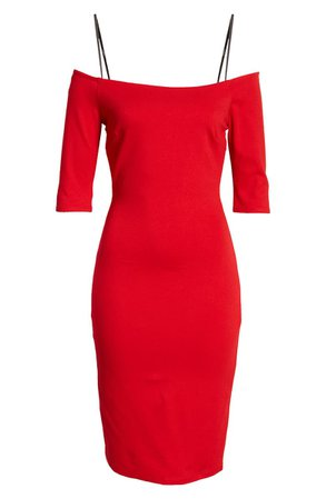 LULUS Girl Can't Help It Off the Shoulder Sheath Dress   Nordstrom