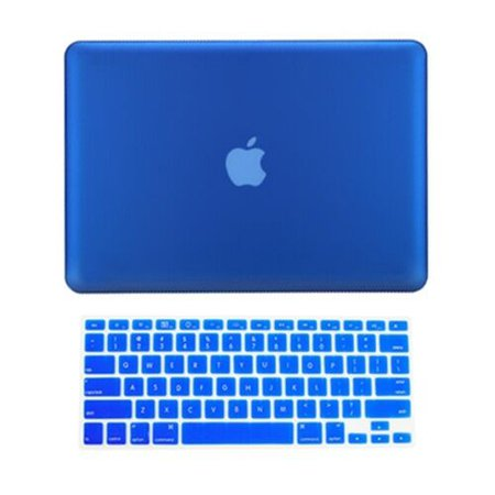 """2 in 1 Rubberized ROYAL BLUE Case for Macbook PRO 15"""" A1286 with Keyboard Cover 692754080652 