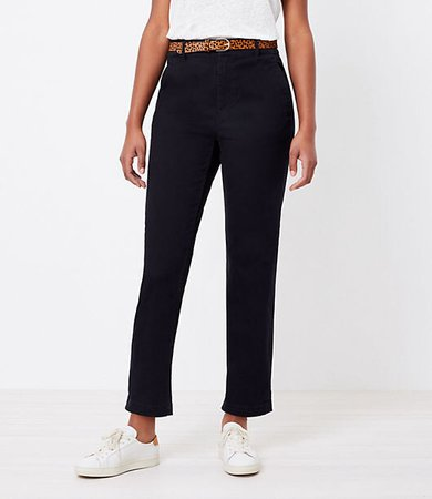 The Petite Curvy Perfect Straight Pant in Washed Twill