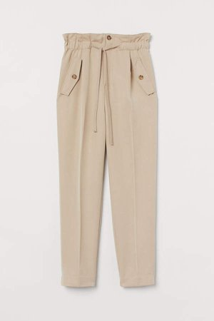 Ankle-length Pants - Beige