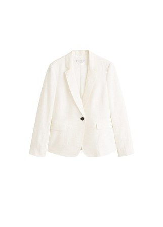 MANGO Structured linen jacket