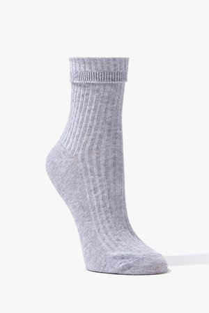 Ribbed Knit Crew Socks   Forever 21