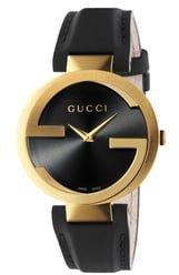 Interlocking G Leather Strap Watch, 37mm