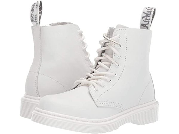 Dr. Martens Kid's Collection 1460 Pascal Mono Boot (Little Kid/Big Kid) | Zappos.com