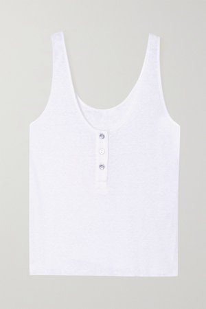 White Shadow ribbed jersey tank   The Range   NET-A-PORTER