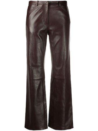 Sandro Paris high-rise straight leg trousers - FARFETCH