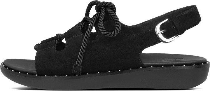 Felicity Lace-Up Suede Back-Strap Sandals