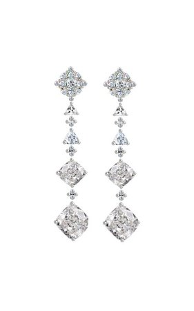 18k White Gold Diamond Tropical Drops By Anabela Chan | Moda Operandi