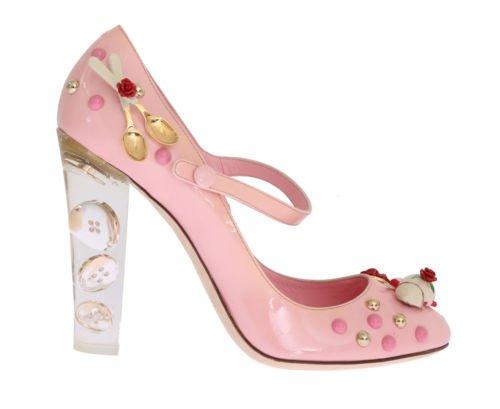 NEW $2000 DOLCE & GABBANA Shoes Leather Pink Porcelain Teapot Heels EU40/ US9.5 | eBay