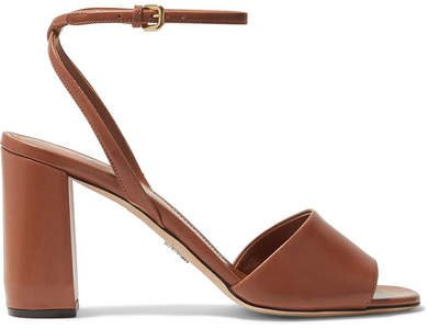 85 Leather Sandals - Brown