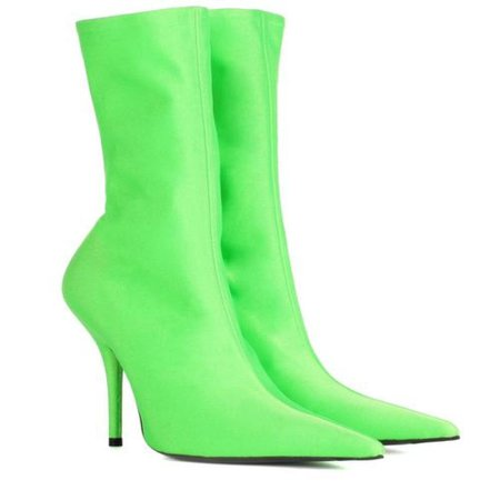 Neon Green Stretchy Ankle Boot – Mighty Mighty