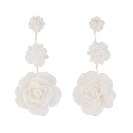 Dannijo Earrings White Rose