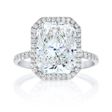 ring concierge - RADIANT HALO ENGAGEMENT RING