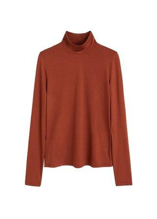 MANGO High collar t-shirt