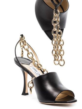 Jimmy Choo chain-link Sae 90mm Sandals - Farfetch