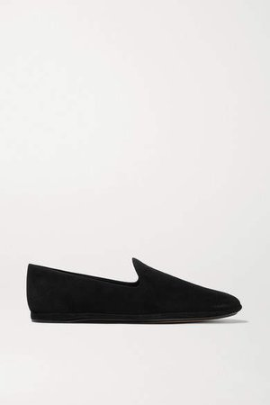 Paz Suede Loafers - Black