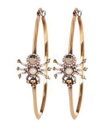 Alexander McQueen Spider Crystal Hoop Earrings | INTERMIX®