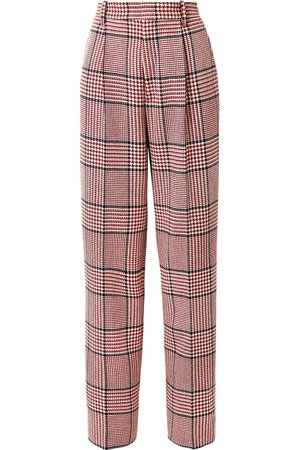 Gucci | Prince of Wales checked wool-blend wide-leg pants | NET-A-PORTER.COM