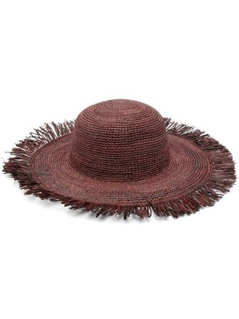 Shop brown IBELIV Mirana straw hat with Express Delivery - Farfetch