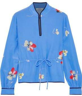 Joycedale Floral-print Washed-silk Blouse
