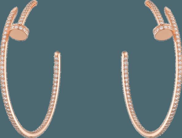 CRN8515009 - Juste un Clou earrings - Pink gold, diamonds - Cartier