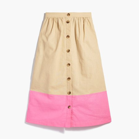 Colorblock midi skirt