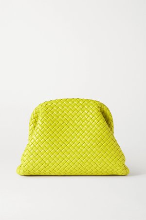 Green The Pouch intrecciato leather clutch | Bottega Veneta | NET-A-PORTER