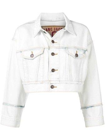 Marc Jacobs Boxy Cropped Denim Jacket - Farfetch