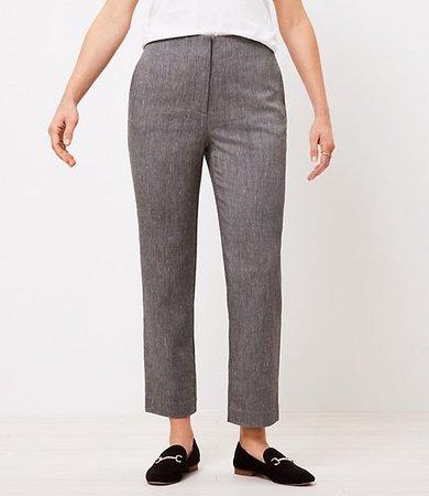 The Petite Curvy Textured High Waist Slim Pant