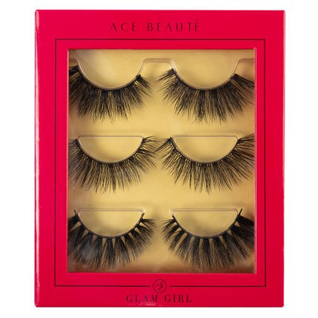 Ace Beaute Faux Mink Lashes Glam Girl Eyelash Trio at BEAUTY BAY