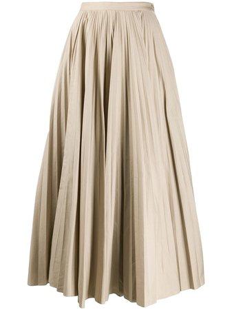 Katharine Hamnett London Ray Pleated Long Skirt   Farfetch.com