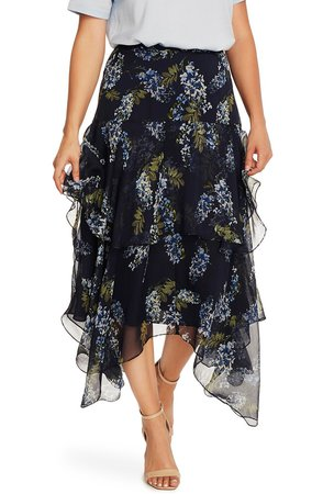 Weeping Willow Tiered Asymmetrical Skirt