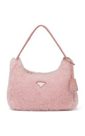 Shearling Top Handle Bag By Prada | Moda Operandi