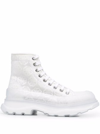 Shop white Alexander McQueen Tread Slick boots with Express Delivery - Farfetch