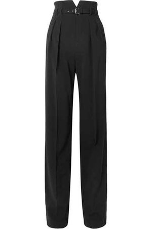 REDValentino | Belted stretch-crepe wide-leg pants | NET-A-PORTER.COM