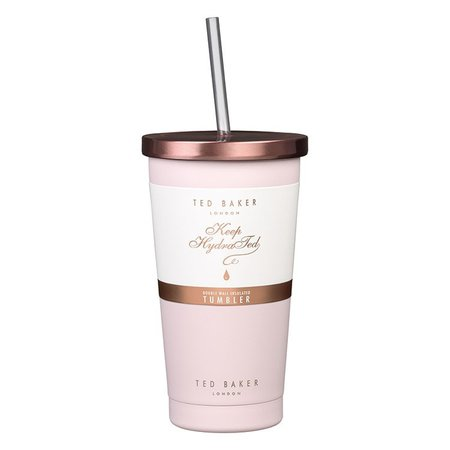Ted Baker Pink Quartz Tumbler and Straw | Temptation Gifts