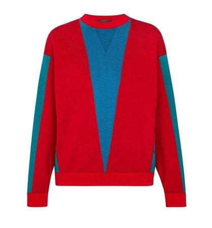 Louis Vuitton bicolore top