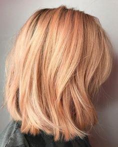 Apricot Peach Hair
