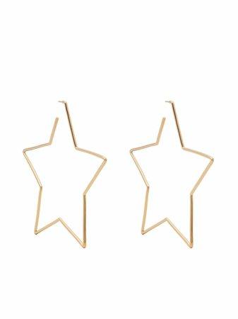 Isabel Marant star-shaped Hoop Earrings - Farfetch
