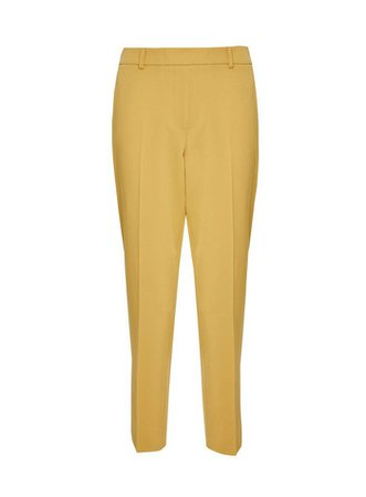 Yellow Ankle Grazer Trousers | Dorothy Perkins