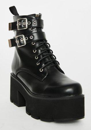 Lamoda Goin' Rogue Platform Boots | Dolls Kill