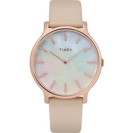 Timex - Timex Metropolitan Transcend Leather Ladies Watch TW2T35300 - Walmart.com - Walmart.com