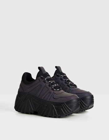 Reflective platform sneakers - Best Sellers - Bershka United States