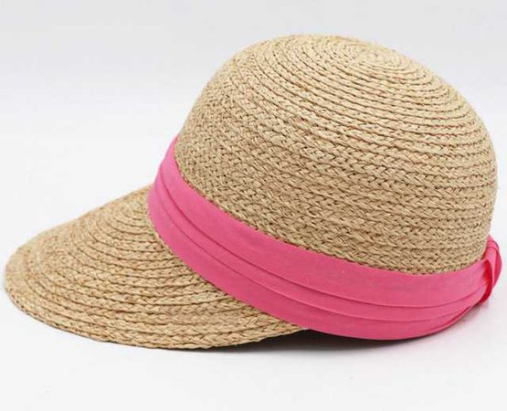 Ribbon Nature Raffia Straw Sun Visors 2018 Women Summer Straw Visor Beach Caps Ladies Handmade Natural Hats-in Sun Hats from Women's Clothing & Accessories on Aliexpress.com