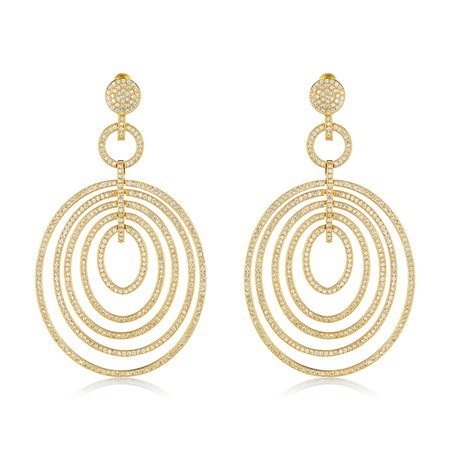 Sizzling Gold Circular Earrings