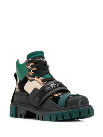 Dolce & Gabbana Hiking-Stiefel Mit Logo-Riemen