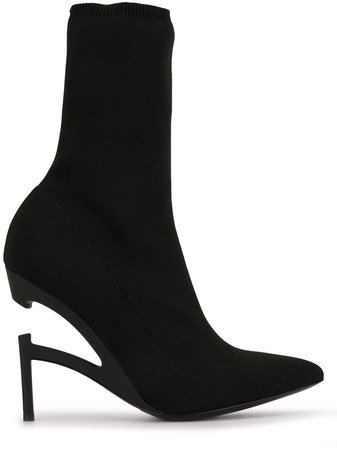 Disconnected-Heel Sock Boots