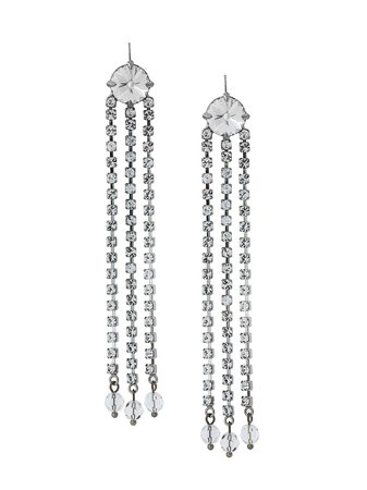 long crystals earrings